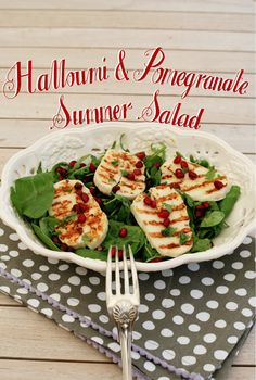 Halloumi&pomegranate salad www.livelovedraw.com