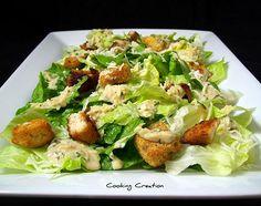 Caesar Salad with Homemade Dressing & Crispy Chicken
