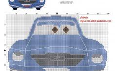 Brent Mustangburger from Disney Planes cross stitch pattern