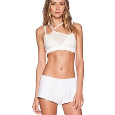 FINAL SALE❗️Free people 2 piece crop top bralette 2 piece set. Adjustable straps, best fit for a B or small C cup. 97% rayon 3% spandex. Elastic stretch fit.   ❌NO Trades❗️  Non smoking home  Same/next day  Free People Tops Crop Tops