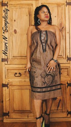 Closet finds: Haltered Brown Leather Trimmed Chiffon Dress – Nzuri N* Simplicity Leather Embroidery, Social Media Break, Metal Flowers, Chiffon Dress, My Wardrobe, Different Styles, Brown Leather, How Are You Feeling, Feminine