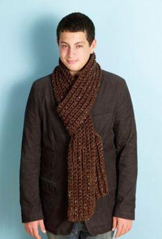 Image of Crochet Rib Scarf
