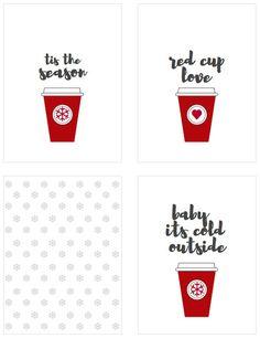 Free Printable 3x4  Christmas Coffee Journal Cards