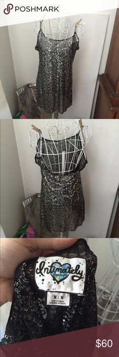 Intimately Free People sequin slip Small area missing some sequins not very noticeable when worn and reflected in price. This item is in good condition but it has been worn please ask any questions before purchasing. This item will only be traded for an autographed Authentic Chanel original, a Lamborghini, a penthouse in Paris, or the services of an Audi mechanic. All orders will be recorded before shipping. I do not model. Please see my reasonable offer chart before submitting an offer…