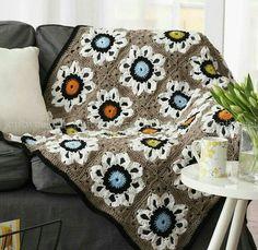 Tecendo Artes em Crochet: Manta Linda Com Maxi Squares