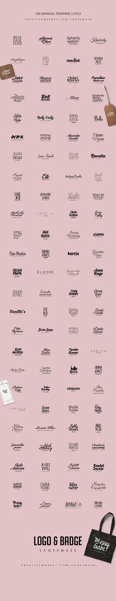 Feminine Minimal Logo by sagesmask on @creativemarket