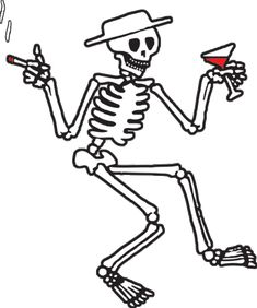 Social Distortion Skeleton | we can't stop here, this is bat country.