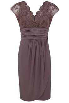 Alexon Light Brown Lace Top Dress - Lyst - mother of the bride