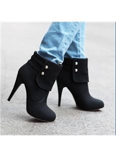 Elegant Stiletto Heels Ankle Boots with Rivets