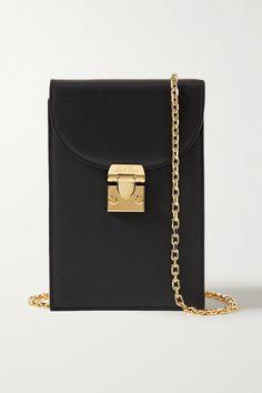 Mark Cross Francis Leather Shoulder Bag In Black Black Francis, Mark Cross, Personal Shopping, Leather Shoulder Bag, Shoulder Bags, Luxury Branding, Shopping Bag, Calves, Black Leather