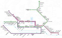 Verkehrsnetzplan S-Bahn Hamburg