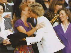 Diana and Sarah.  It is sad they were fallen out at the time of Diana's death.  Some of Diana's friends say she probably would have come back around to Sarah.