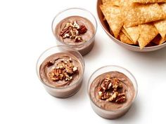 Chocolate Cheesecake Cups with Candied Pecans Recipe | Jason Smith | Food Network
