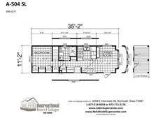 Park Series RV Park Homes A-504 Loft by Recreational Resort Cottages