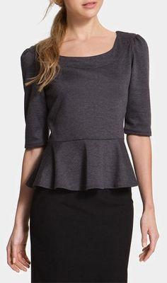Gray Peplum..I really want a peplum shirt!
