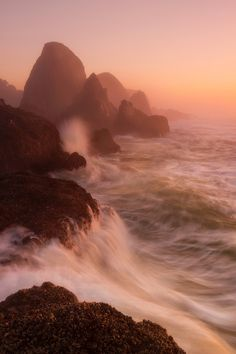 Love the rocks and the waves!