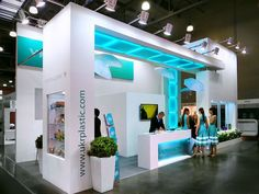 We love the colour and use of ligthing - perfectly on brand and eye chatching Exhibition stand design. Found on Behance