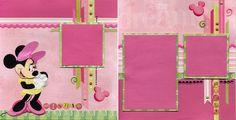 Minnie Pink & Green Spread - Scrapbook.com