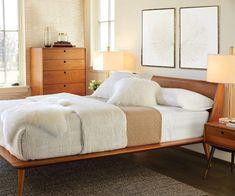 Bolig Bed - Light Walnut Stain - Scandinavian Designs