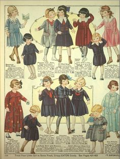 Eaton's Catalogue of 1920-21: Childrens Clothes (Plate 4 of 4) by CharmaineZoe, via Flickr