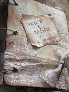 Wedding Guest Book Neutral Elegant by vintagehillcreations