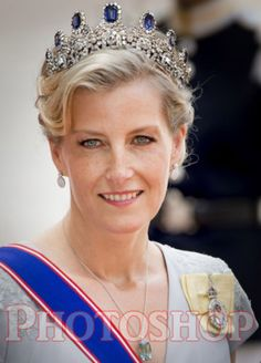 Countess of Wessex in Swedish Sapphire.