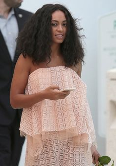 CHAMPAGNE WISHES: Solange Goes Chic & Sheer For Swanky Carnival-Themed Brunch In Miami | The Young, Black, and Fabulous