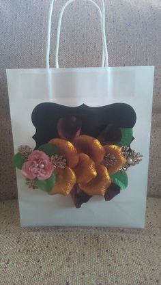 Decorated #giftbag Ted Baker, Tote Bag, How To Make, Bags, Decor, Handbags, Carry Bag, Taschen, Decorating