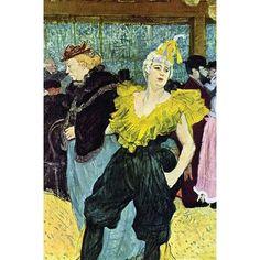 'La Clownesse Cha-U-Kao im Moulin Rouge' by Henri Toulouse-Lautrec. French Post-Impressionist Art from Moulin Rouge, Paris Henri De Toulouse Lautrec, Pierre Bonnard, Pierre Auguste Renoir, Oil Painting Gallery, Painting Prints, Art Print, Giclee Print, Oil Paintings, Alphonse Mucha