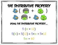 The TechKnowledgey Teacher: FREE Product - Distributive Property Angry Birds Math Resources, Math Activities, Math Properties, Algebraic Properties, Fifth Grade Math, Ninth Grade, Seventh Grade, Fourth Grade, Middle School Literacy