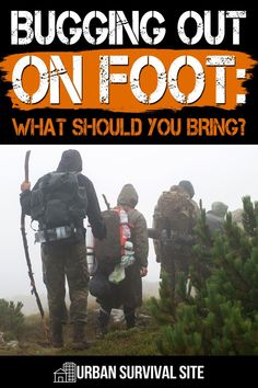 Rather than doing the standard bug out bag checklist, here are some considerations for the critical items you'll need while hiking to your bug out location. Urban Survival, Survival Food, Wilderness Survival, Survival Tips, Survival Skills, Zombie App, Bug Out Location, Bug Out Bag, Disaster Preparedness