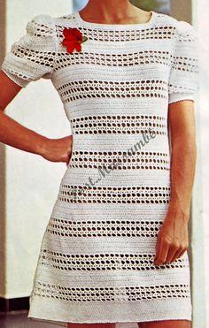 Nertos sukneles - Dalia Ivanova - Álbuns da web do Picasa Crochet Fringe, Diy Crochet, White Crochet Top, Senior Prom Dresses, Lace Mini Skirts, Lace Cardigan, Crochet Magazine, Vestidos Vintage, Clothing Items