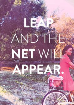 Leap and the net will appear.