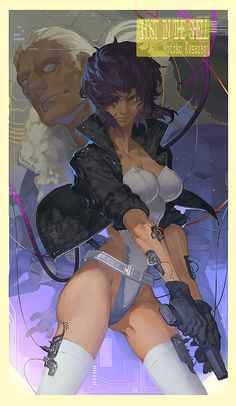Motoko Kusanagi http://bear1na.tumblr.com/post/80544196981/urza358 ★ || CHARACTER DESIGN REFERENCES | キャラクターデザイン  • Find more artworks at https://www.facebook.com/CharacterDesignReferences & http://www.pinterest.com/characterdesigh and learn how to draw: #concept #art #animation #anime #comics || ★