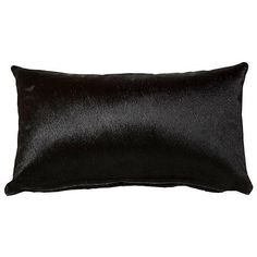 Full-Panel 13x22 Hide Pillow Ebony Decorative Pillows ($115) ❤ liked on Polyvore featuring home, home decor, throw pillows, black, black throw pillows, black accent pillows, black toss pillows, black home decor and textured throw pillows