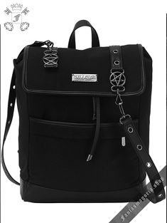 Vixxsin Studded Gothic Nugoth Punk Wicca Pentagram Handbag Shoulder Spell Bag