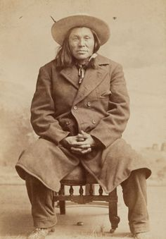 Blackfeet man from delegation in Washington, 1879.