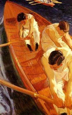 SOME NON-CUBIST PAINTINGS:  Artist joaquín Sorolla y Bastida (27 February 1863 – 10 August 1923) was a Valencian Spanis