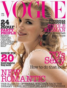 Nicole Kidman by Regan Cameron Vogue UK April 2002
