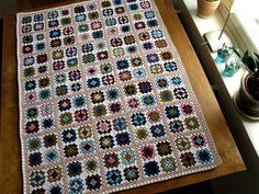 Granny Square Blanket | Yarn: Nine different colours for the… | Flickr