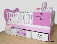 cunas-funcionales_a59b9087_3 Baby Bedroom, Bedroom Sets, Girls Bedroom, Kids Bedroom Furniture, Baby Princess, Baby Cribs, Girl Nursery, Little Babies, Kids And Parenting