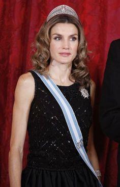 Royal tiaras - Crown Princess Letitia of Spain wearing a Tiara.jpg