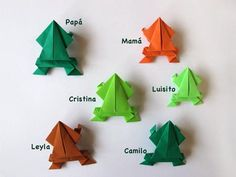 Traditional origami jumping frog.