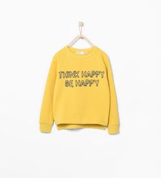 Image 2 of Sweatshirt with appliqué text from Zara