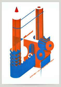 Sharpen. 2 color screenprint poster,   50 x 70 cm, 200 grams paper,  numbered and signed in an edition of 24.  Purchase this print here > http://aronvl.bigcartel.com