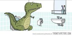 The struggles of being a T-Rex...