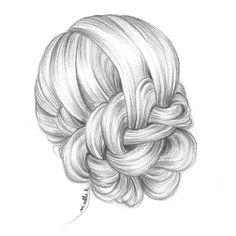 comment dessiner des cheveux en chignon Protéger mes