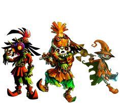 Les Skull Kids, des enfants sans visage qui vivent dans les Bois Perdus. La légende raconte que ce sont des enfants qui se sont perdus dans les bois perdus, ils peuvent être amicaux ou hostiles. Exemple : Skull Kid (l'ennemi principal de Majora's Mask)