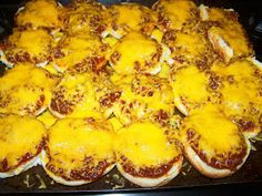 Bundles of Blossoms Blog: Pizza Burgers made from homemade sloppy joes-Family style dinners on a budget