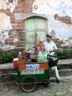 "El Salvador - Suchitoto ~ He sells the best mangos ""tuis"" But the mangos are not tasty in winter, so he becomes the minuta man 